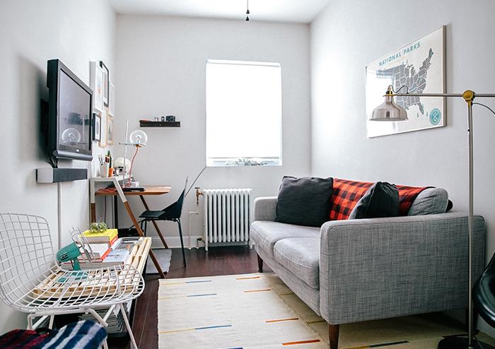 Salón pequeño moderno