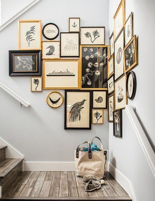 Composición de cuadros en escalera