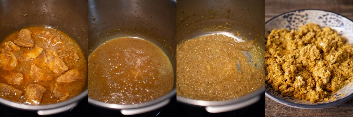 Preparación briwats de pollo