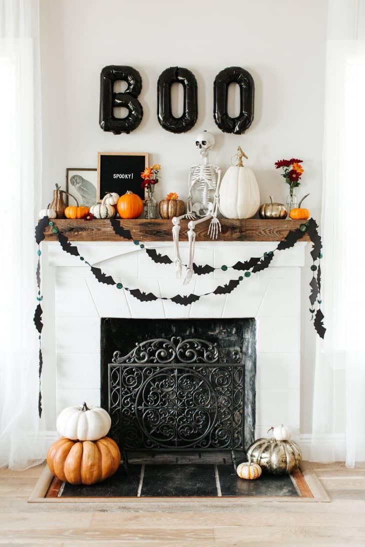 Decoración chimenea Halloween