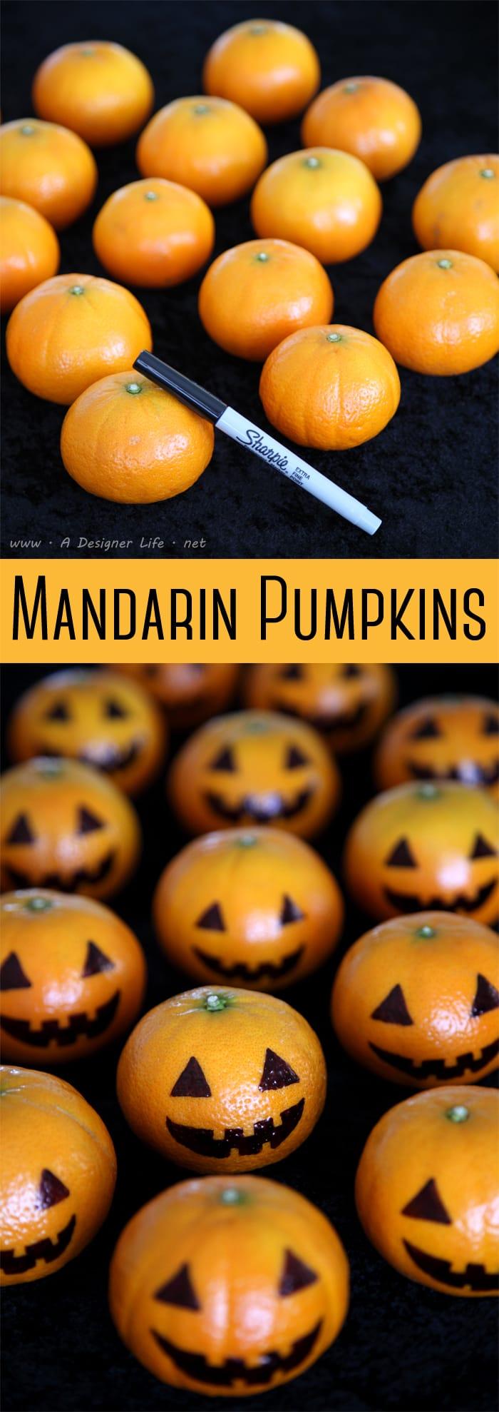 Decorar mandarinas para Halloween