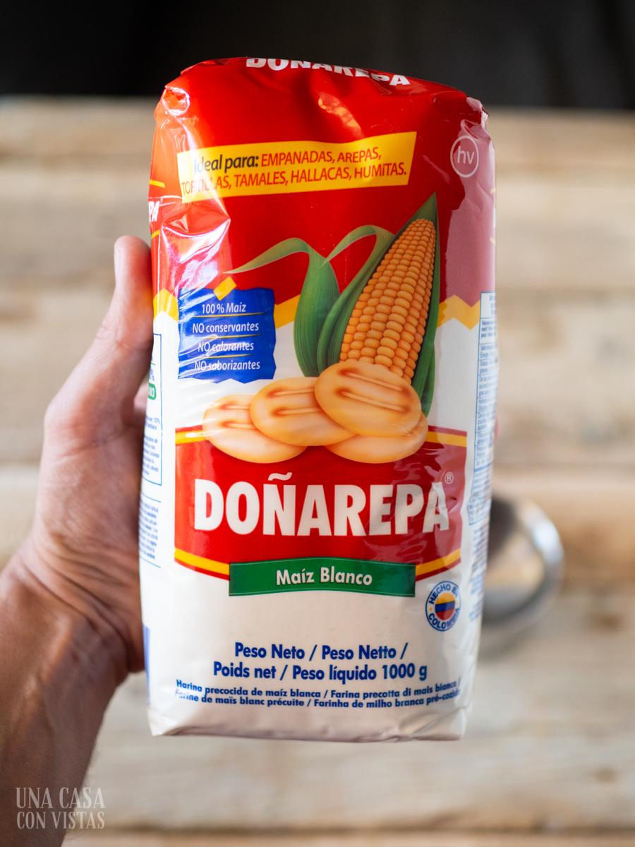 Harina de maiz precocida Doñarepa