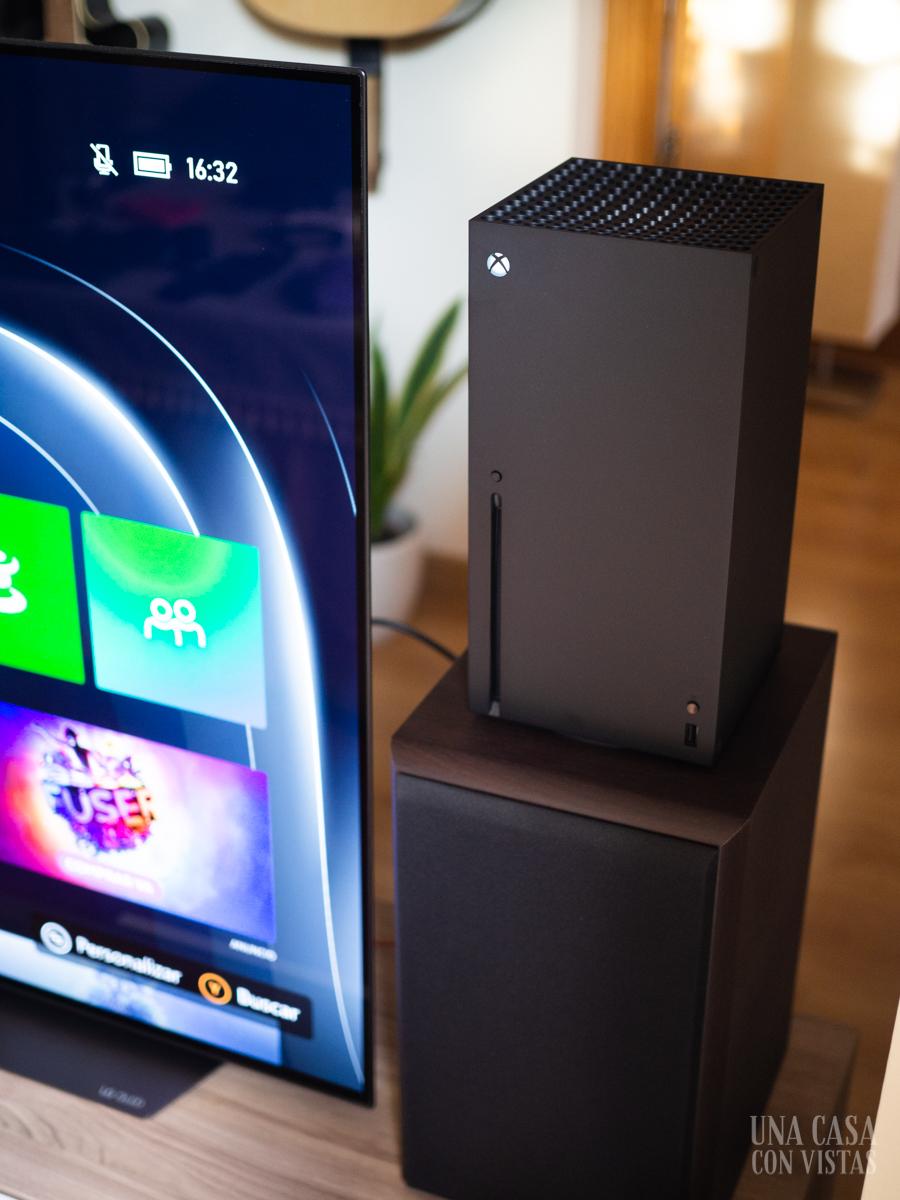 Colocando la Xbox Series X