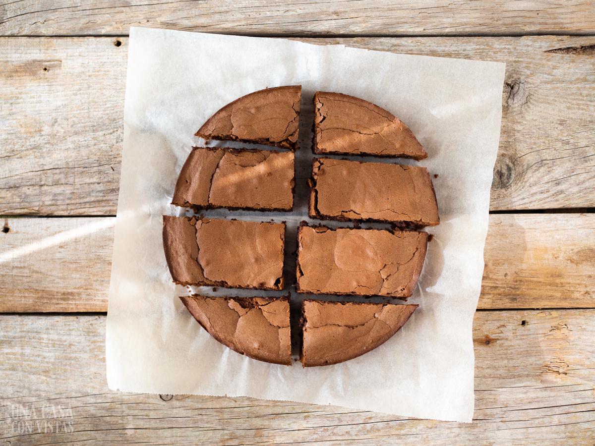 Brownie de chocolate sin nueces