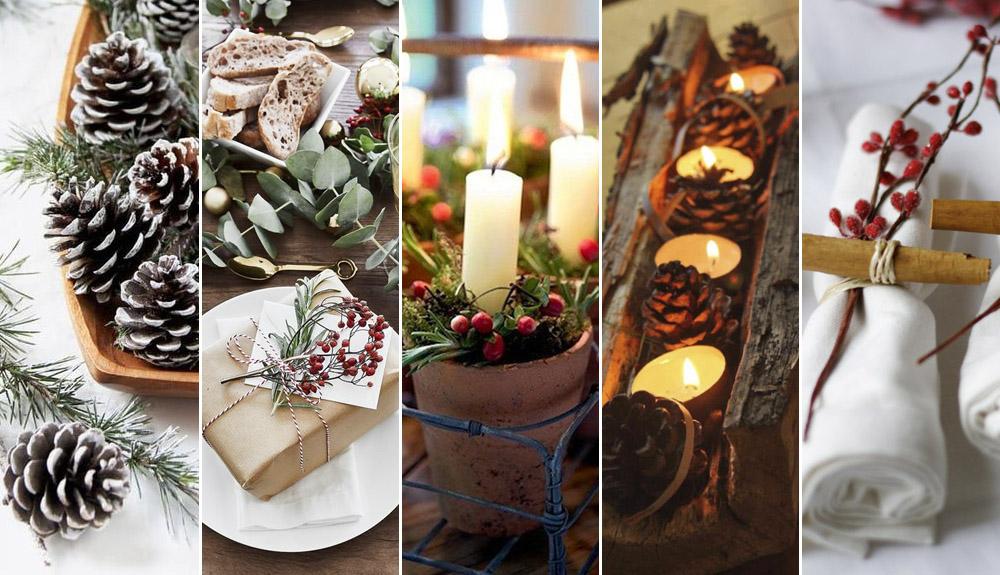 Ideas decorativas para mesa de Navidad
