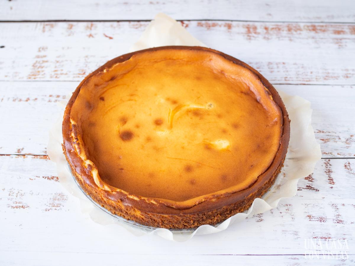 Tarta de tres quesos