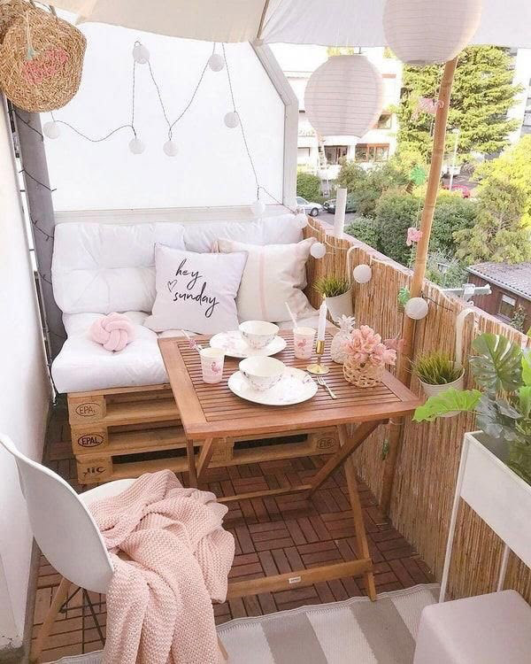 Decoración balcón pequeño