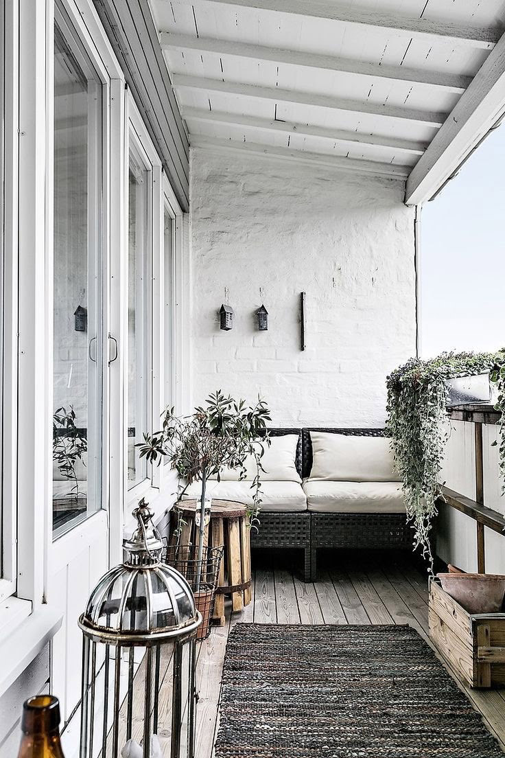Decoración para balcón pequeño