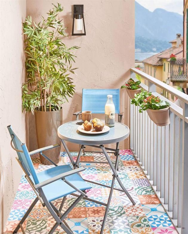 Conjunto pequeño para balcón
