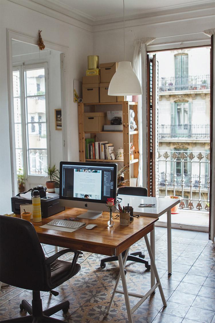 Espacio de trabajo con vistas
