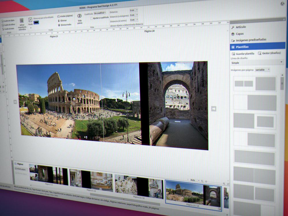 Software para albumes fotográficos Saal