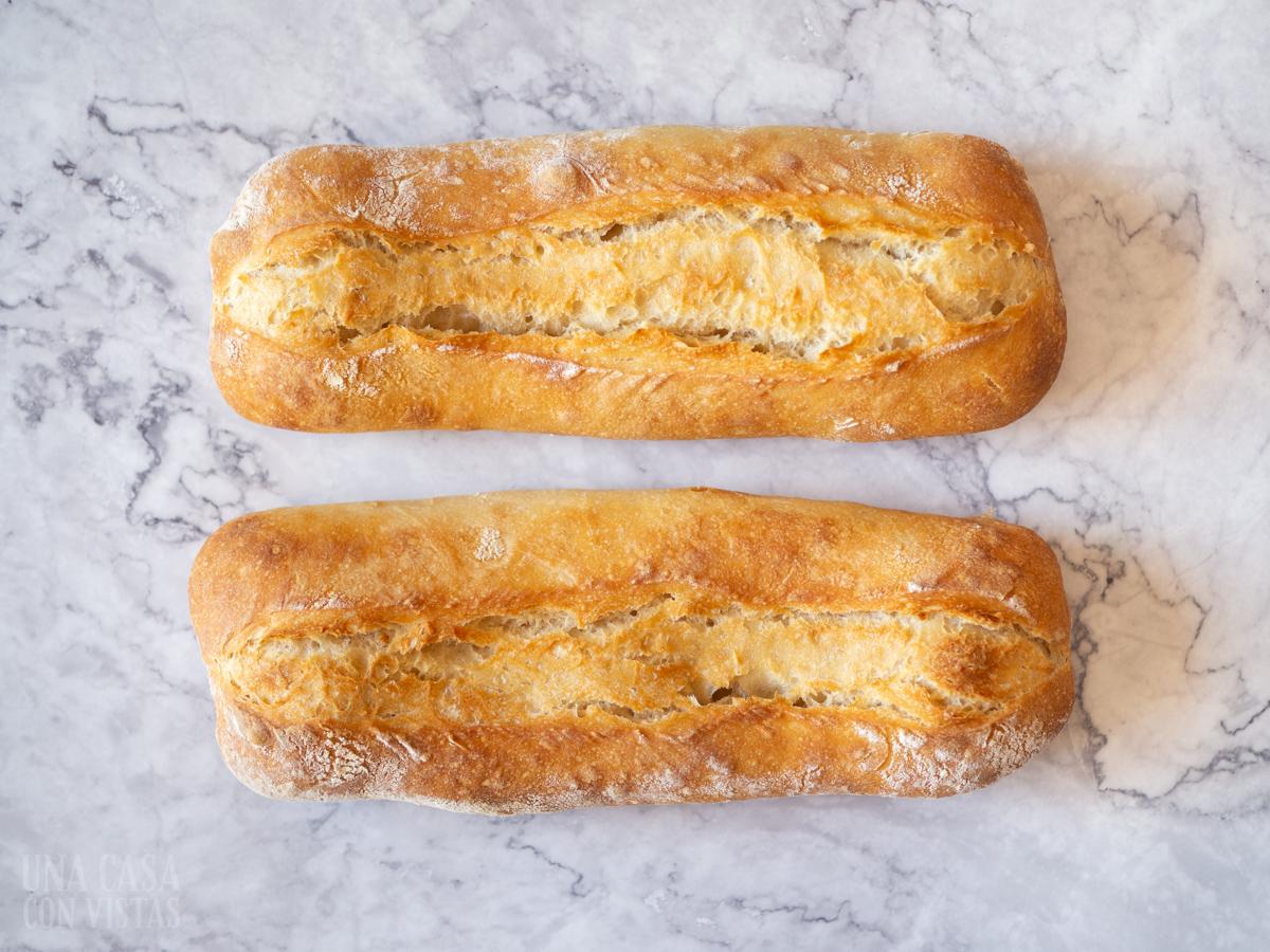 Barras de pan casero