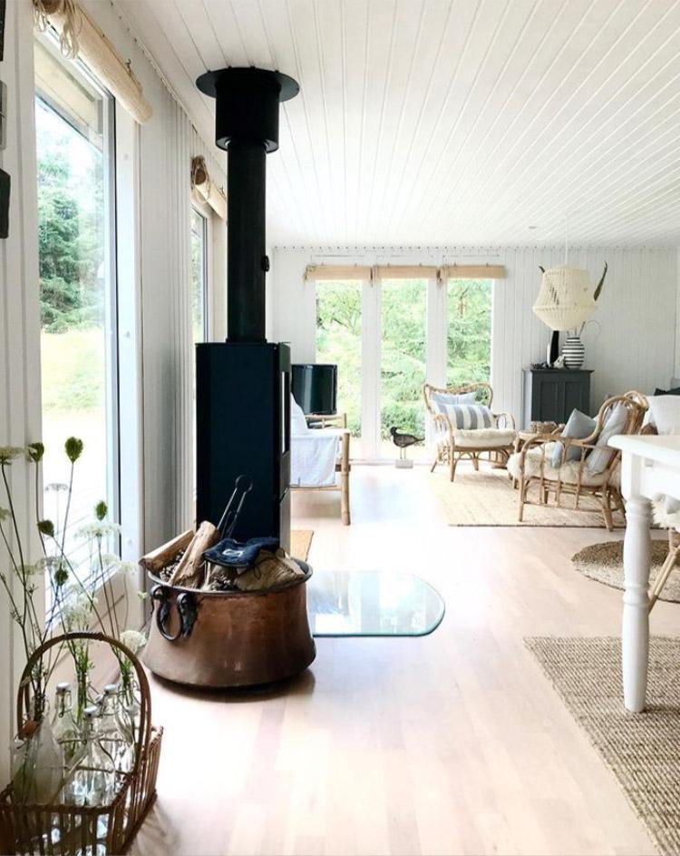 Salón de estilo nórdico en Dinamarca