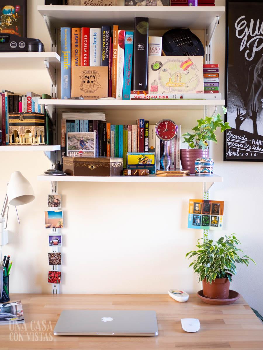 Espacio de trabajo limpio y minimalista