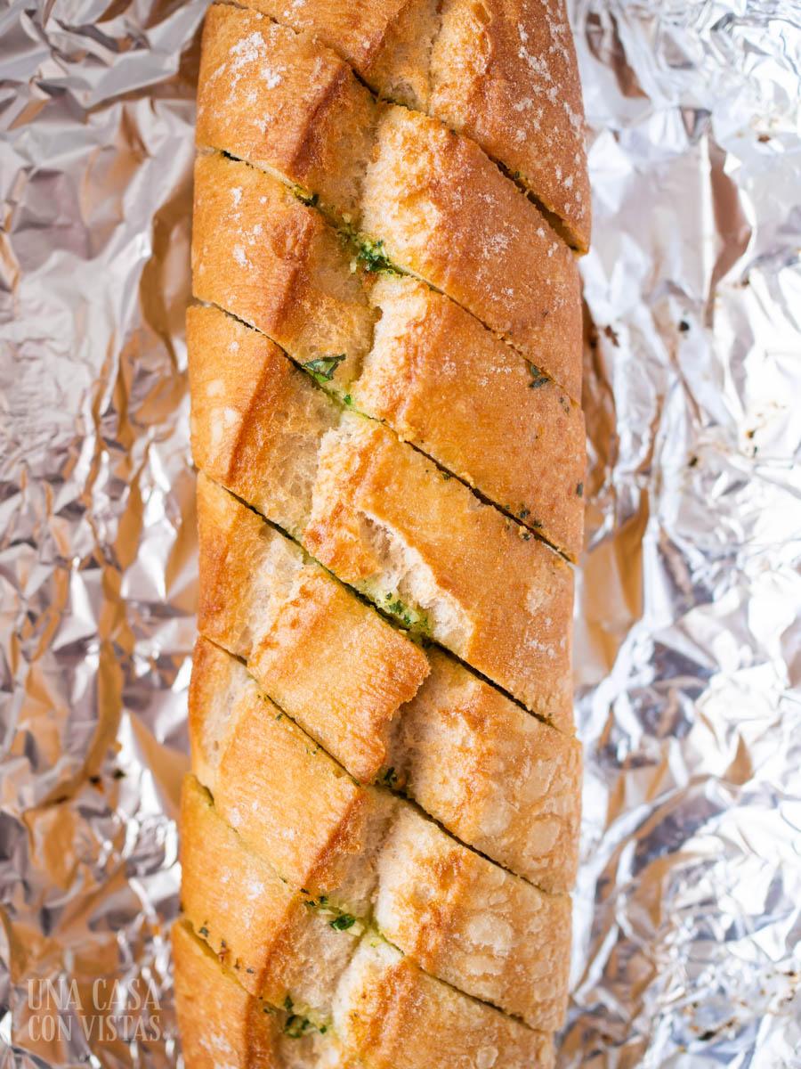 Receta de pan de ajo