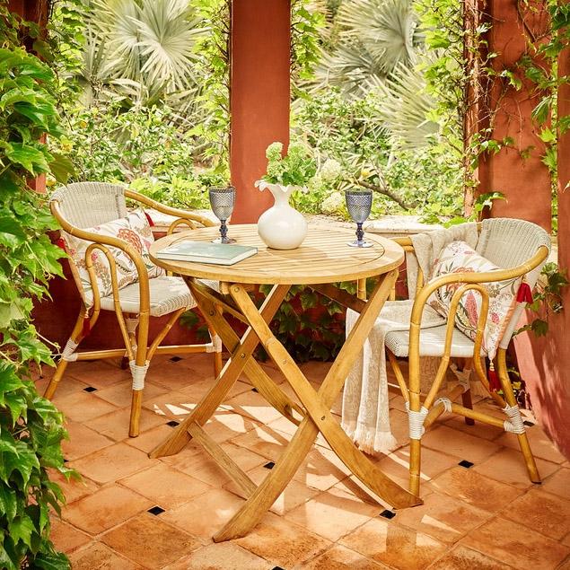 Conjunto de balcón de madera El Corte Inglés