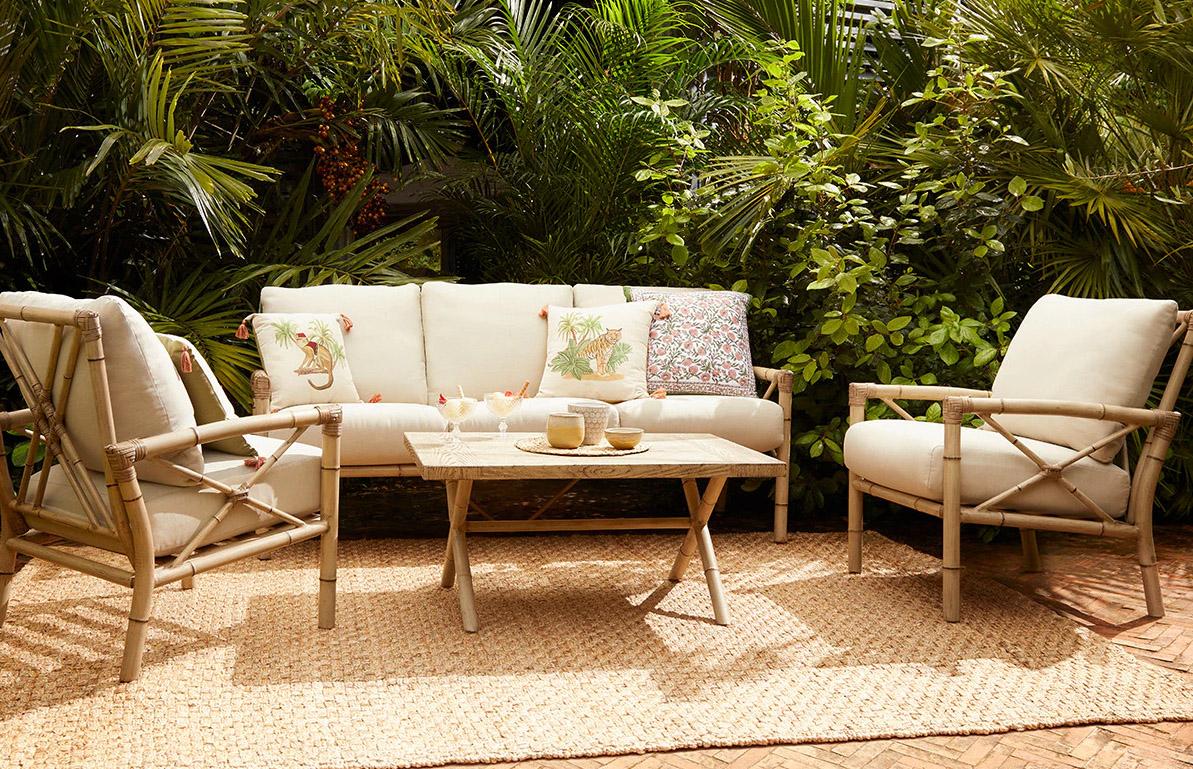 Conjunto de terraza de bambú El Corte Inlgés