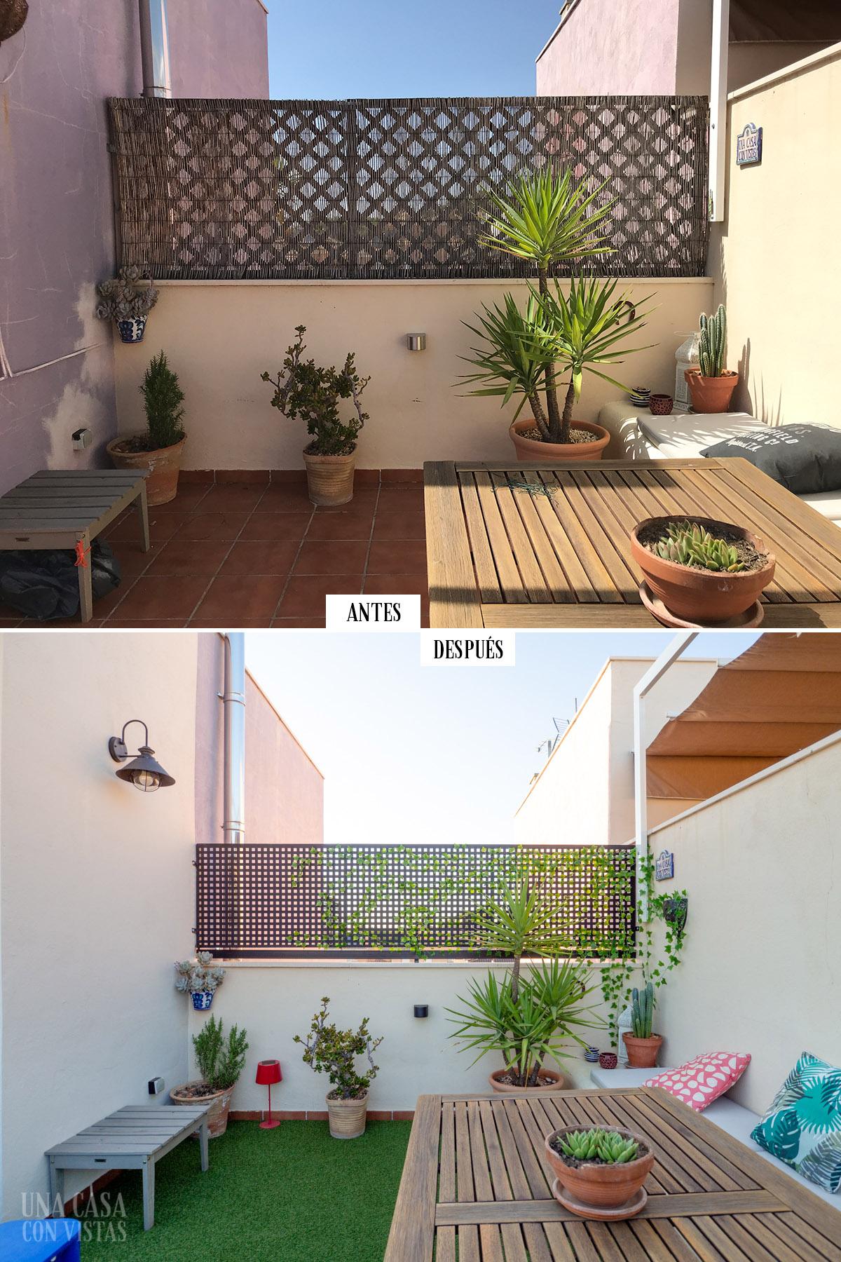 Antes y después de nuestra terraza