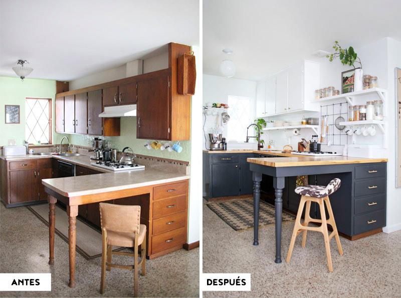 Antes y después - Cocina renovada sin obra