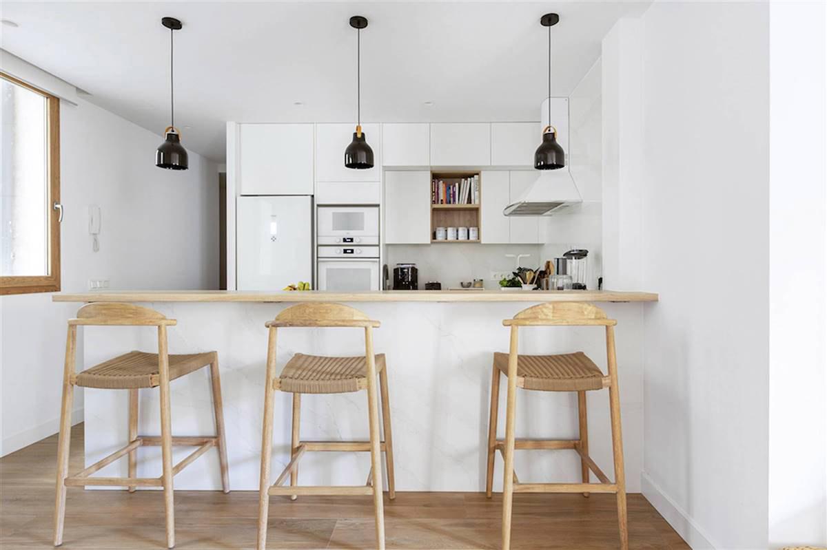 Cocina renovada en Madrid