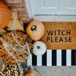 Decoración de Halloween para la entrada