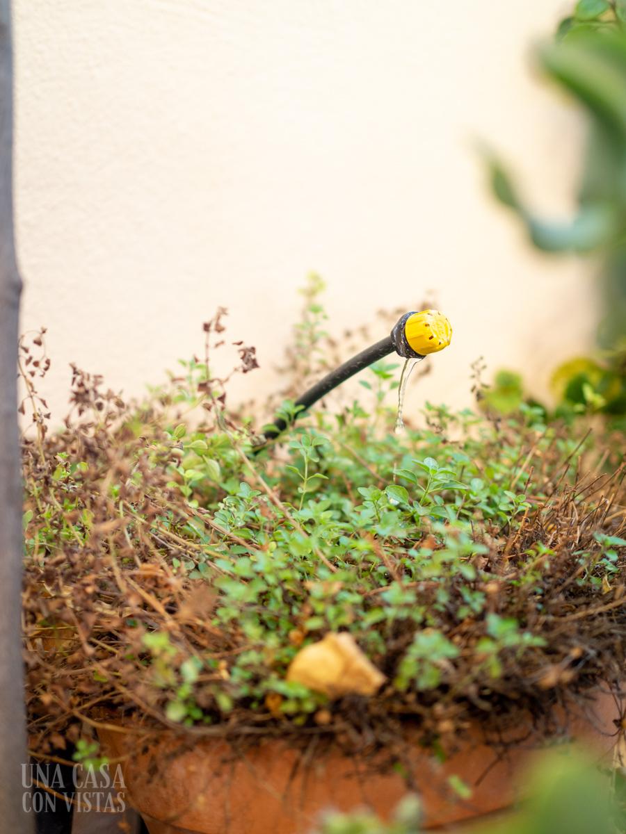 Instalar riego automático en la terraza