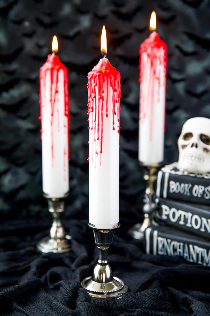 Velas sangrantes de Halloween