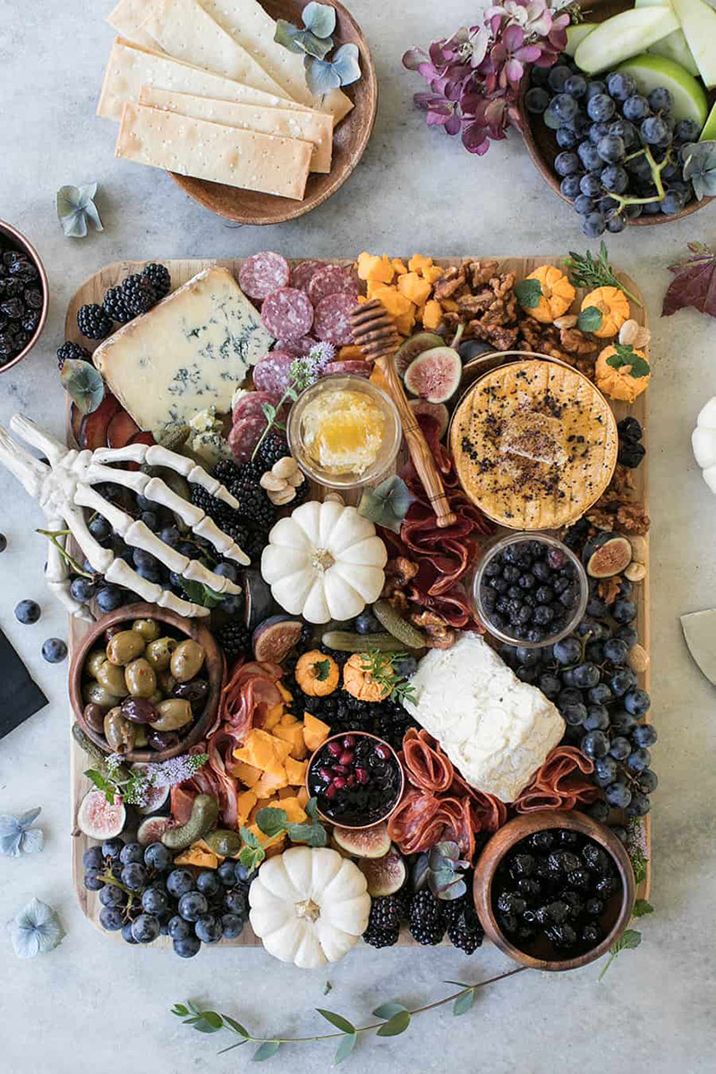 Tabla de quesos de Halloween